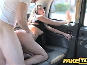 fake taxi tall Spanish beauty penetrates her beau in the back