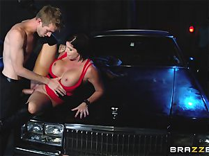 big-titted sweetie has bang-out with a stranger guy, and her husband looks