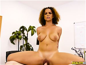 Raven Redmond leaned over and poked firm