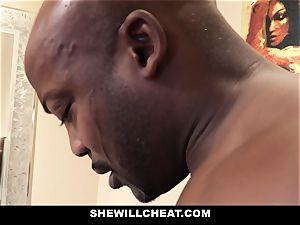 SheWillCheat - cheating wifey penetrates bbc in bathroom