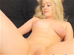 super-steamy buxomy honey Finger smashes her vagina on web cam
