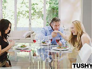 TUSHY Carter Cruise and Adriana Chechik sudden 3