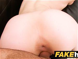 fake Agent internal cumshot for fresh redhead yankee model