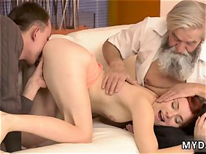 daddy mate s daughter very first unexpected practice with an elder gentleman