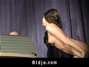 tight fantastic teenage cooter humped By elder step-father