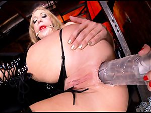 mad Kagney Karter plaything plumbs Amy Brooke's booty fuck-hole