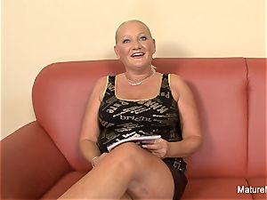 huge-titted towheaded grandma takes it in the rump