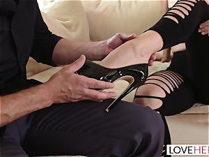 LoveHerFeet - I offered My feet And He Made Me cum