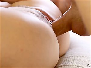 Cassidy Klein puts on a solo demonstrate for her guy