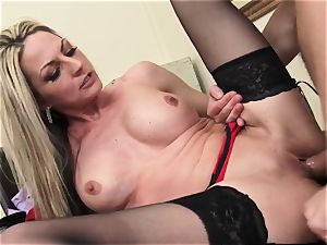 Russian employee Exploited for sex By steamy cougar manager
