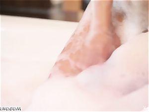 insane minx Marga Cifuentes taking a foam bath