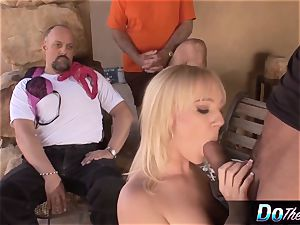 supah jaw-dropping blond wifey nailed by pornography stud