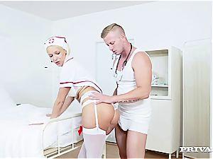 Nurse Karol Lilien treats a Patient to Her super-hot slit