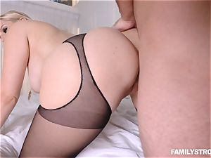 Vanessa cage stuffed in her taut nubile slit