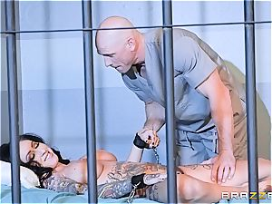 Johnny Sins gives Lily Lane her daily dose of intercourse in prison