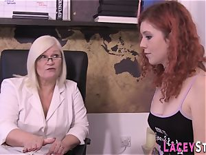 big-titted girl-on-girl grandmother