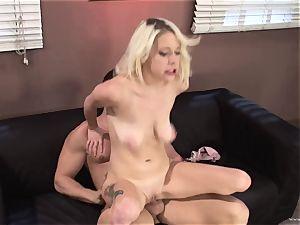 Randy Kissy Kapri rides her honeypot on this giant boner