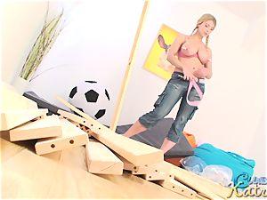 Katrin Kozy bondage camel toe
