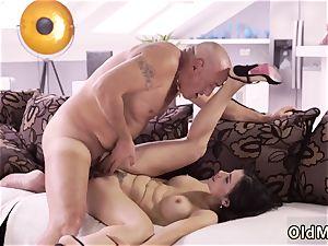 senior man and chick xxx harsh hook-up for super-sexy latina honey