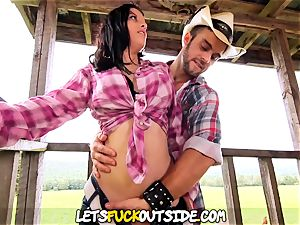 Lets tear up Outside - Cowgirl plumbed hard on the Farm