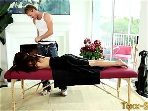 lubed babe screws massagist