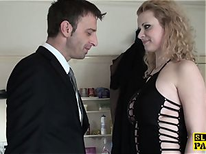 brit bdsm sub booty-fucked before cuminmouth