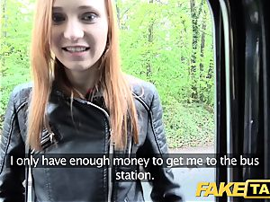 faux taxi slender red-haired luvs raunchy fuckfest
