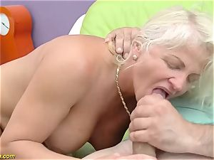 mind-blowing 73 years aged mommy first-ever immense shaft ass fucking ravage
