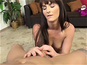 diminutive Bianca Breeze Does handjob