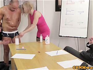 Office female dom affair with Chantelle Fox