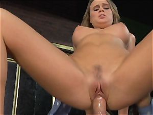 Alexis Adams bangs the chief in the bar
