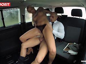 fucked In Traffic - torrid Czech platinum-blonde screws in the car