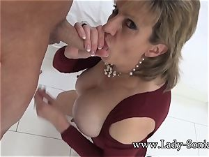 damsel Sonia Mature honey greased Up And blowing meatpipe