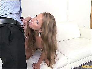 Russian sweetie Sofi Goldfinger pummeled by the audition agent