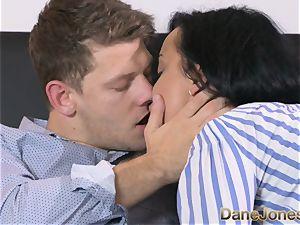 Dane Jones naughty black haired Russian has internal ejaculation