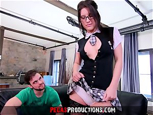 first Time anal invasion for nasty student - Pegas