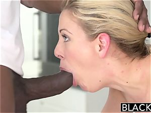 BLACKED super-fucking-hot Southern platinum-blonde Takes thick dark-hued pipe