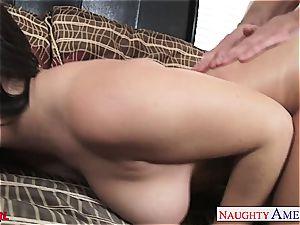 exclusive Keisha Grey blows and bangs his ample prick