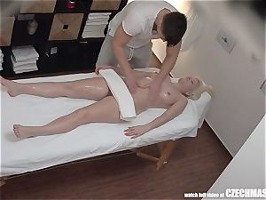 big-boobed blond rails masseuse