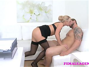 FemaleAgent Bodybuilder plows fabulous blondie agent