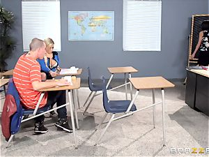 Bibi Noel and Anissa Kate nail in the classroom