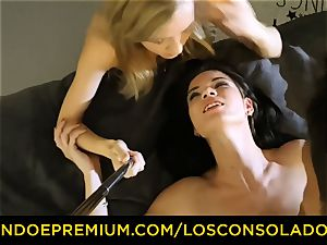 LOS CONSOLADORES - filthy honies have ultra-kinky threesome sex