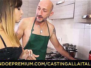 casting ALLA ITALIANA - steamy Italian minx gets deep anal invasion