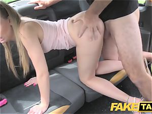 fake cab Skipping college for backseat fuck-fest in cab