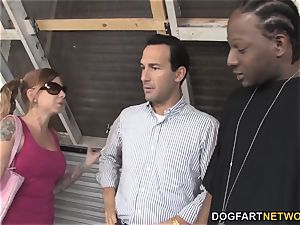 Scarlett agony bangs big black cock but her daddy doesn't like it
