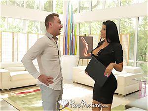 PUREMATURE milf real estate agent Romi Rain torn up