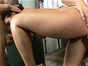 stellar brown-haired with hefty tits Charley chase