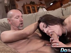 hubby observes wifey take large prick