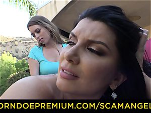 SCAM ANGELS - Jill Kassidy and Elsa Jean in lezzy fucky-fucky