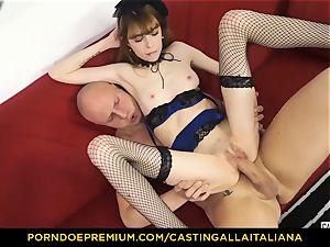 casting ALLA ITALIANA - bony honey takes man rod like pro